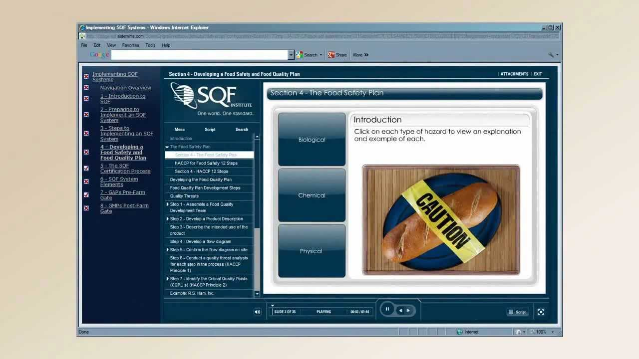 Online Implementing SQF Systems Training Course