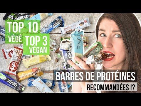 BARRES DE PROTÉINES - TOP 10 VÉGÉ & TOP 3 VEGAN   Bonnes pour la santé