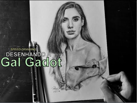 Desenhando a Gal Gadot (Speed Drawing) - PedroJr Art