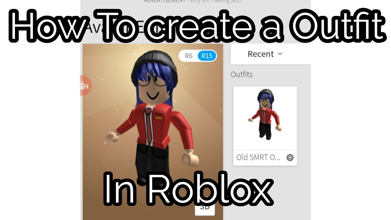 Create A Outfit On Roblox Mobile Roblox Tutorials Youtube