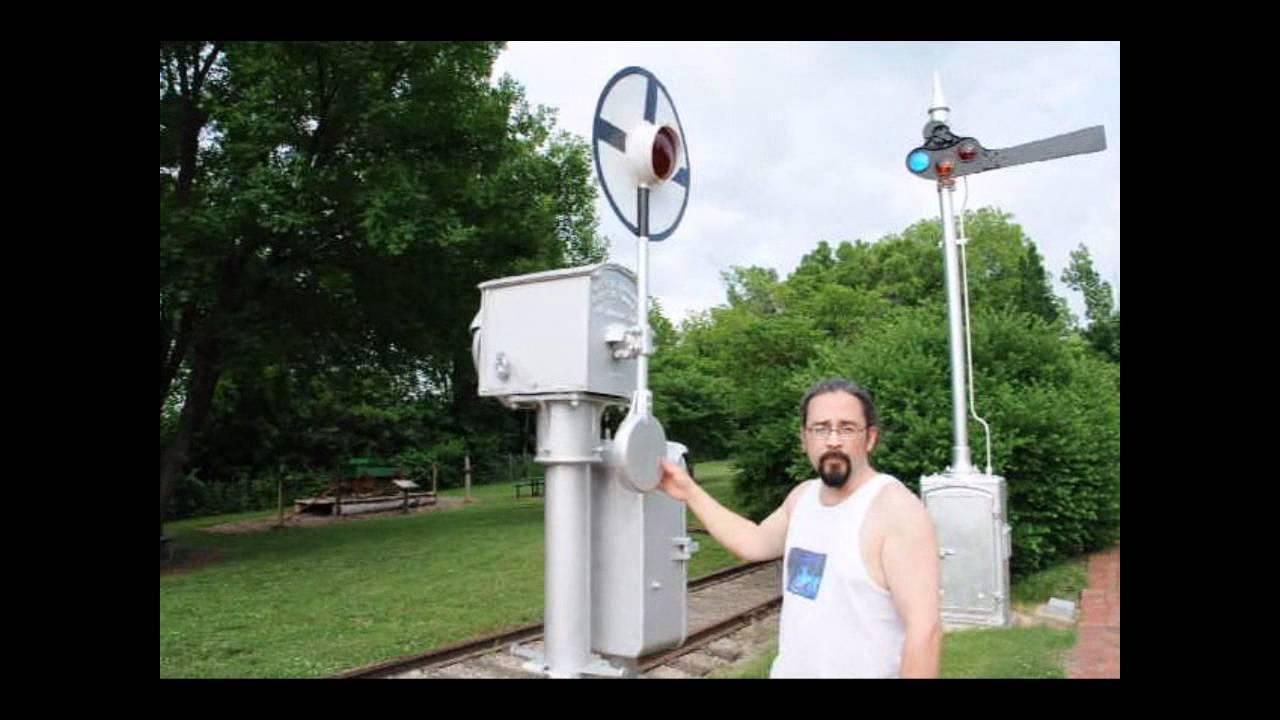 Vintage Railroad crossing train signal