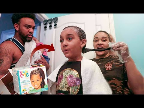 I PERMED MY DAUGHTER'S NATURAL HAIR *PRANK ON BOYFRIEND*  | AND THIS HAPPENED!!!