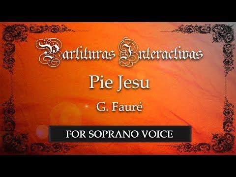 Pie Jesu - G. Fauré (Karaoke - Original Key: B-flat major)