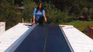 DIY solar panels 124 WATT ROLLABLE SOLAR PANEL self adhesive 24 volt - 42 volt open