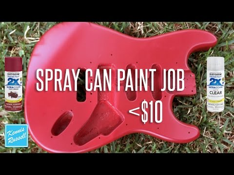 Can You Paint a Guitar With Spray Paint For Less Than $10?