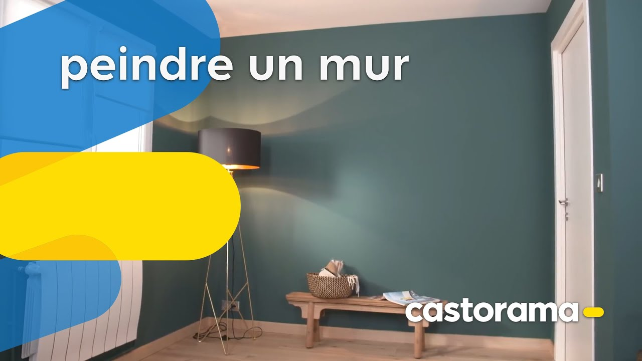 comment peindre un mur castorama youtube. Black Bedroom Furniture Sets. Home Design Ideas