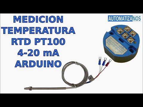 MEDICION DE TEMPERATURA USANDO RTD PT100, TRANSMISOR 4-20 mA y ARDUINO