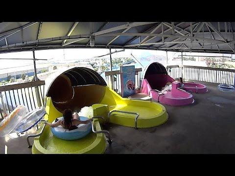 Pink Loopy Water Slide at Schlitterbahn Galveston