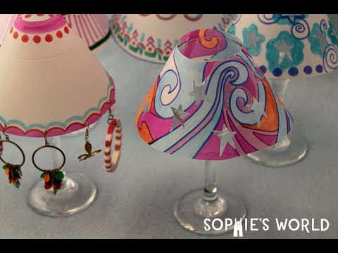 How to Make Mini Paper Lampshades | Sophie's World