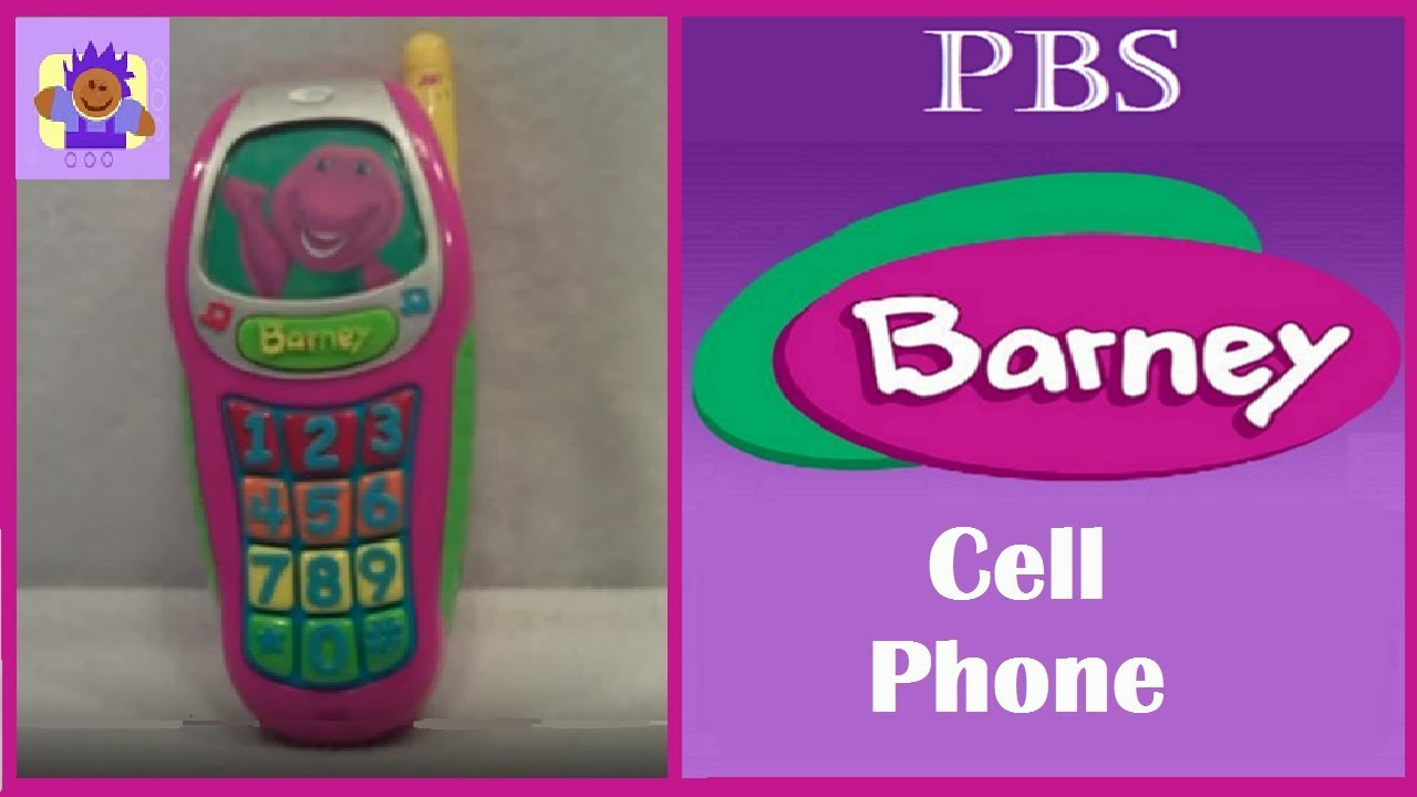 2002 PBS Barney the Purple Dinosaur Learning Toy Cell Phone by Mattel - YouTube