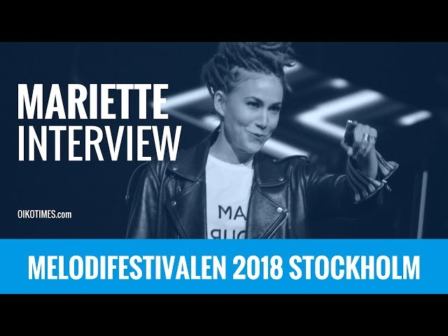 oikotimes.com: Interview with Mariette in Stockholm / Melodifestivalen 2018