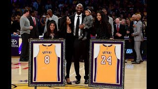 Download Kobe Bryant No.8 & No.24 Jersey Retirement In Los Angeles Mp3 and Videos