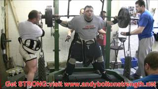 Andy Bolton Squat Training: 8th June 2011