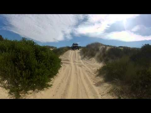 Peron Dunes, St Helens Tasmania.  Fun in the Truck..