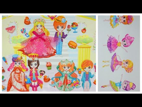 Play paper doll sticker so cute /Cute paper doll toy game ami channel