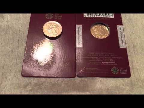 INTRODUCING - New Carded 2015 Royal Mint Sovereign X 2