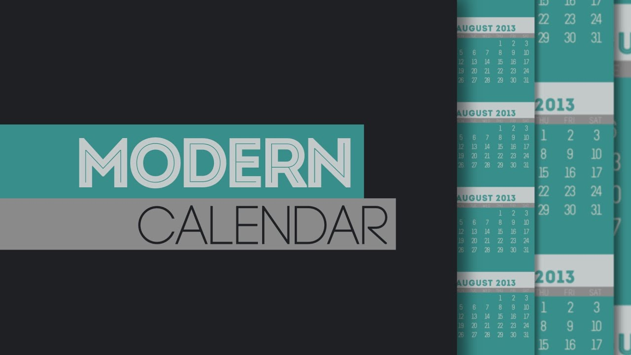 Modern Calendar of Events After Effects template - YouTube