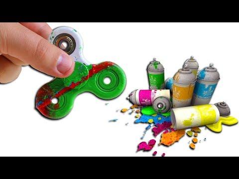 Fidget Spinner in Farbe Dippen - DiY