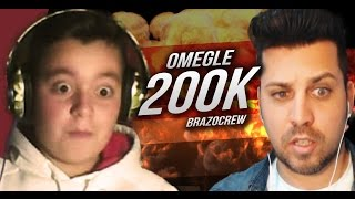 OMEGLE REACTION - SPECIALE 200K by BrazoCrew