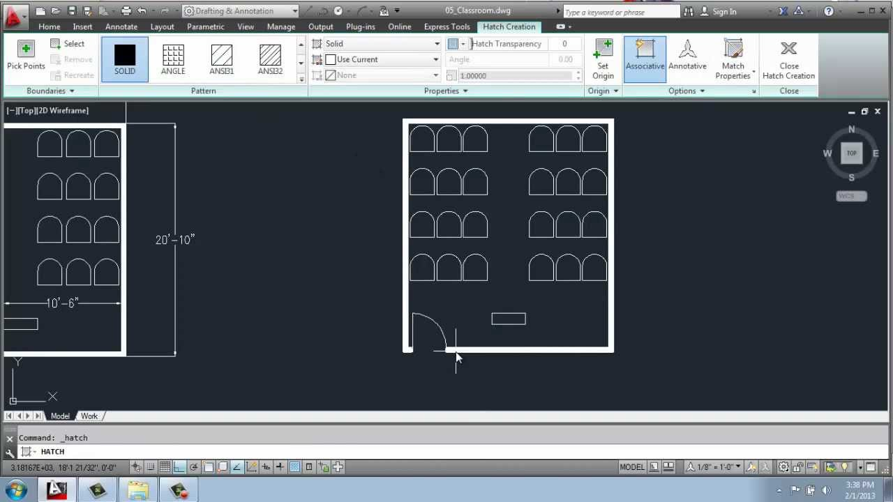 Classroom Furniture Cad ~ Autocad d drafting basics part classroom