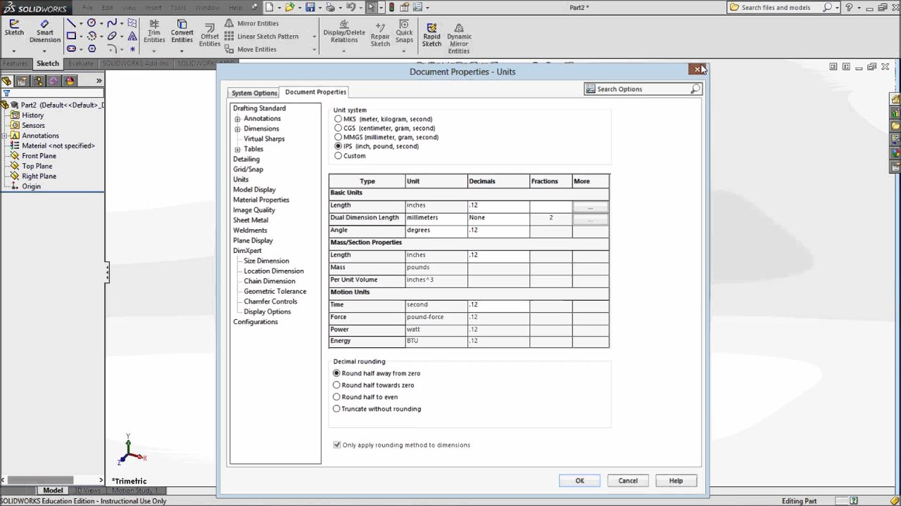 Solidworks Templates Changing Units File Locations And