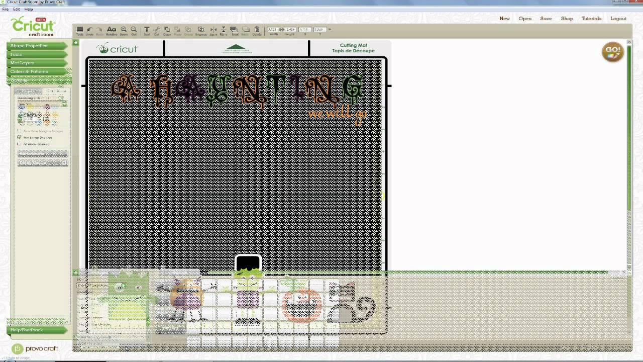 A Haunting we will go   digital layout using Cricut Craft Room & Imagine