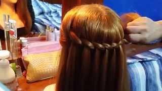 髮型教學影片~瀑布編髮(新娘秘書-Blue Kelly)
