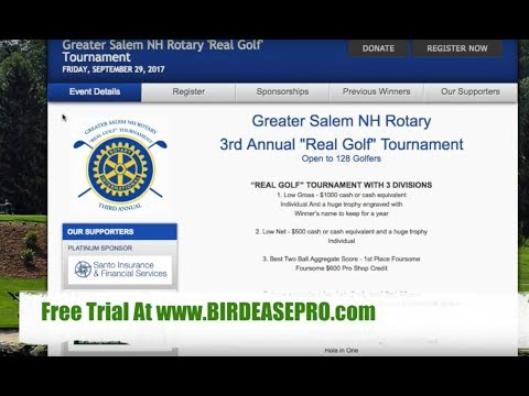 Charity Golf Management Software for Rotary Clubs