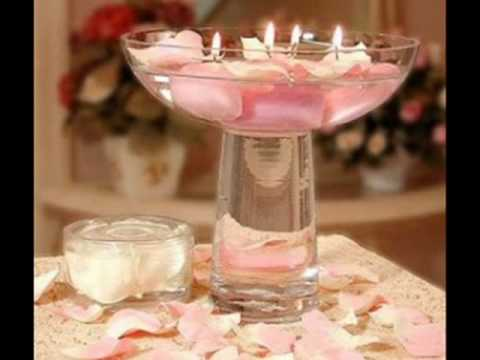wedding floating candles centerpieces.wmv - YouTube