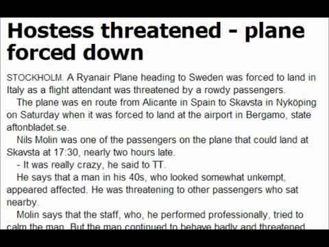 1MIN NEWS Man Threatens to Shoot Hostess With Finger Makes Emergency Landing In Italy
