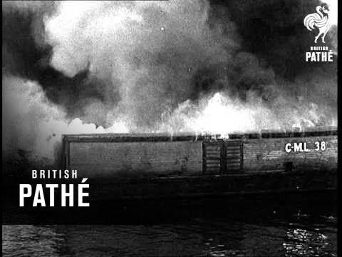 Big Fire In Jacksonville Big Waterfront Fire (1941)