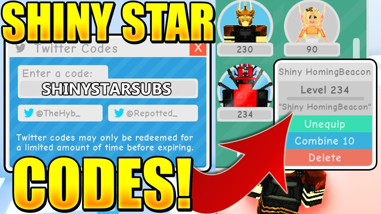 star codes for roblox 2019