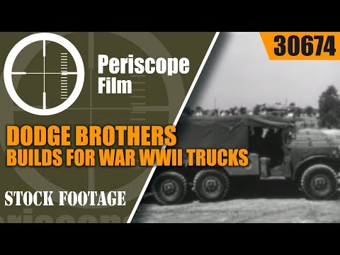 DODGE BROTHERS BUILDS FOR WAR   WWII TRUCKS, SHERMAN TANKS, COMMAND CARS 30674