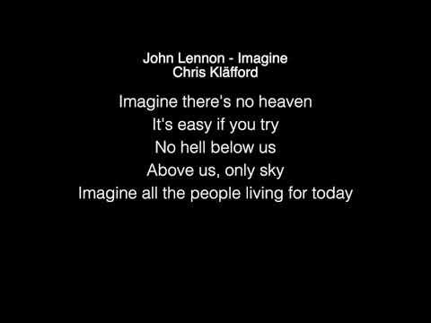 Chris Kläfford - Imagine Lyrics ( John Lennon  , America's Got Talent 2019 )