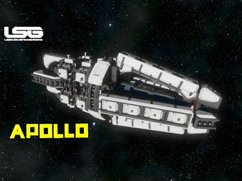 Space Engineers Apollo Logistics Carrier Youtube