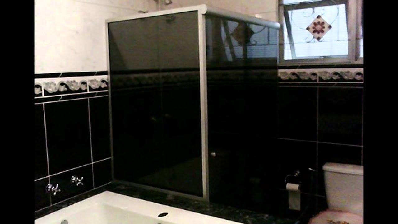 Vidraçarias em Campinas!Box Para Banheiro Espelhos   #7F6E4C 1920x1080 Banheiro Box Em L