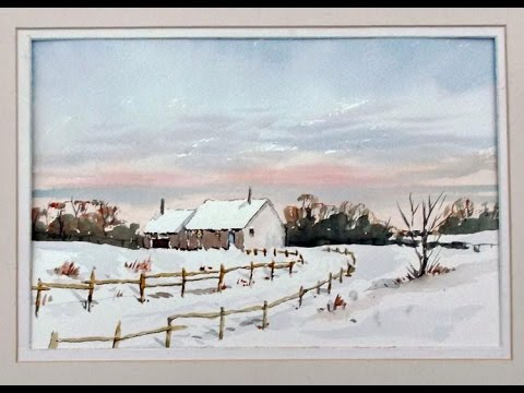 How to paint a warm winter sky