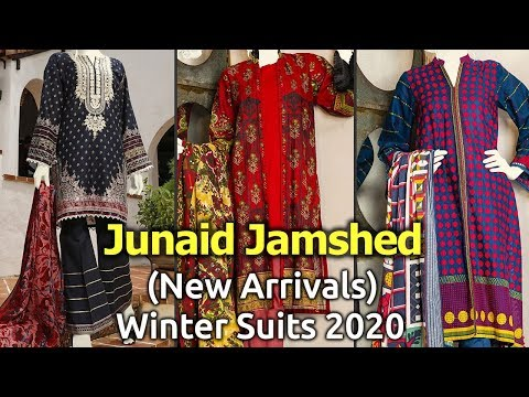 New Junaid Jamshed Designer Winter Dresses 2020 Latest Pakistani Winter Collections Youtube