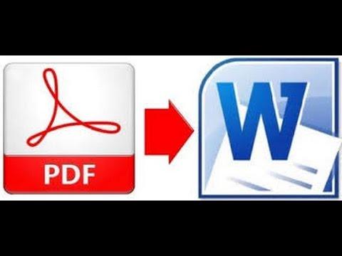 C mo convertir un PDF a Word