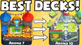 Clash Royale BEST DECK FOR ARENA 7 ARENA 10 DECKS UNDEFEATED | BEST ATTACK STRATEGY TIPS F2P PLAYERS