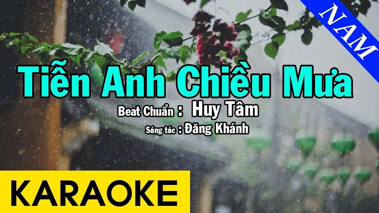 Karaoke Tiễn Anh Chiều Mưa Tone Nam Nhạc Sống - Beat Chuẩn Huy Tâm