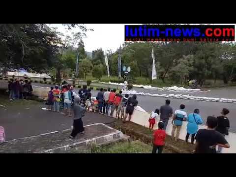 Lutim-news.com : Video insiden di arena sirkuit Puncak indah malili