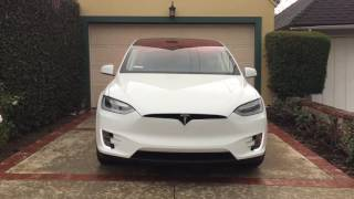 Tesla Model X Easter egg Christmas  light show