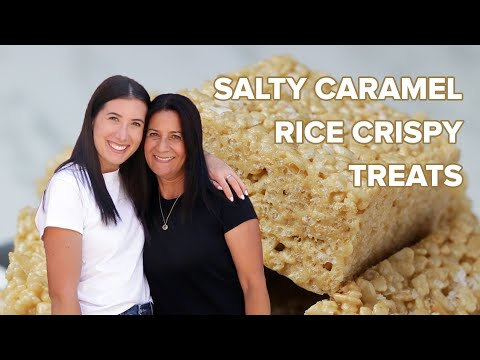 Salty Caramel Rice Krispies As Made By Bliss & Baker • Tasty