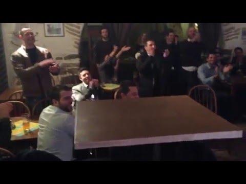 Spontaneous karaoke at U Zajice restaurant prague