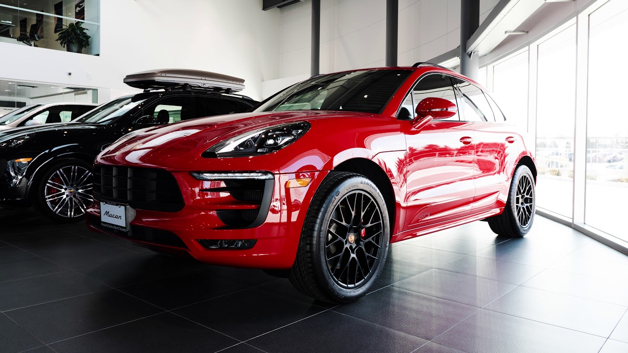 New 2018 Porsche Macan GTS in Carmine Red at Porsche Centre North Toronto