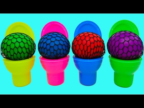 Thumbnail: Learn Colors! Squishy Balls for Kids Microwave Finger Family Nursery Rhymes Compilation Play Doh