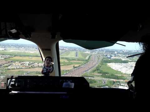 Piaggio Avanti Landing 06R in Toronto (cockpit)
