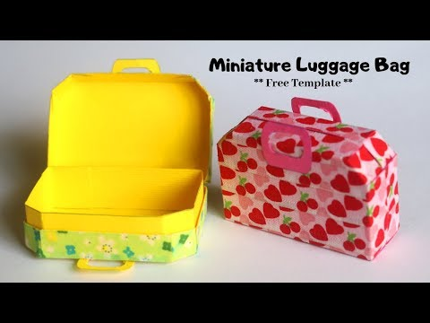 Miniature Luggage Bag | Miniature Suitcase for Dolls / Miniature Dollhouse | DIY Miniature Things