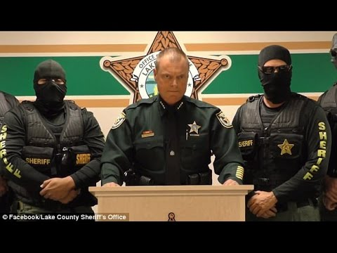 Sheriff tells drug dealers, 'We're coming for you' and 'we will blow your front-doors off!'